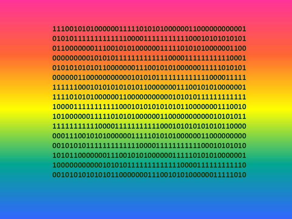 !!. UWAGA !!. Każdy komputer działa w systemie zerojedynkowym.