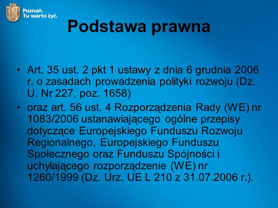 Podstawa prawna Art. 35 ust. 2 pkt 1 ustawy z dnia 6 grudnia 2006 r.