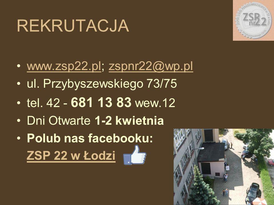 www.zsp22.pl; zspnr22@wp.plwww.zsp22.plzspnr22@wp.pl ul. Przybyszewskiego 73/75 tel. 42 - 681 13 83 wew.12 Dni Otwarte 1-2 kwietnia Polub nas facebook