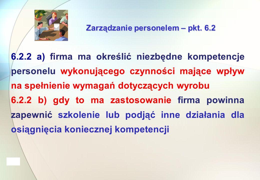 Zarządzanie personelem – pkt.