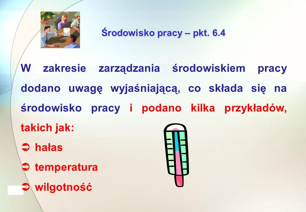 Środowisko pracy – pkt.