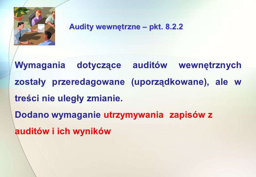 Audity wewnętrzne – pkt.