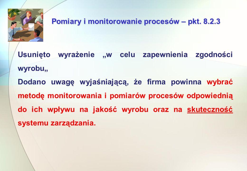 Pomiary i monitorowanie procesów – pkt.
