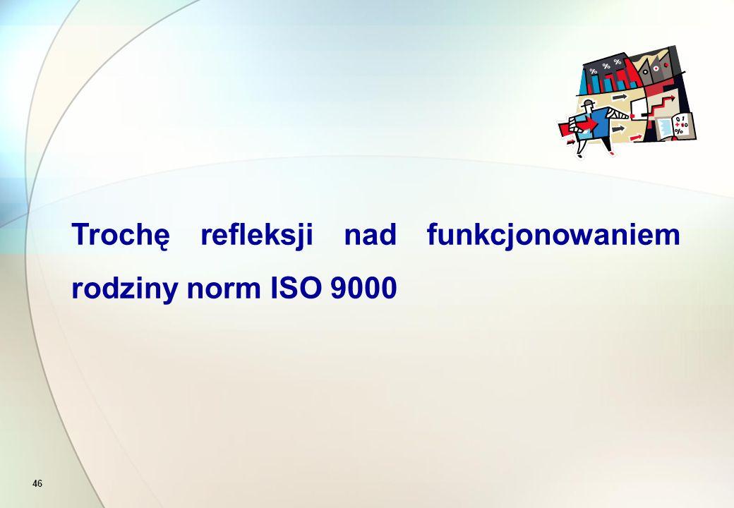 46 Trochę refleksji nad funkcjonowaniem rodziny norm ISO 9000