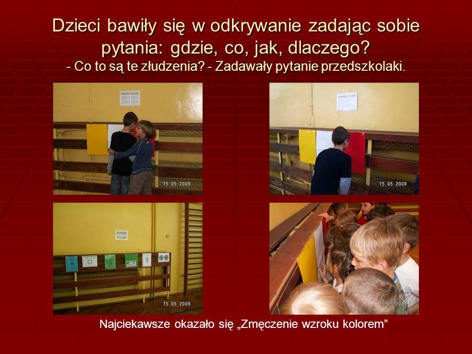 Dzieci bawiły się w odkrywanie zadając sobie pytania: gdzie, co, jak, dlaczego.