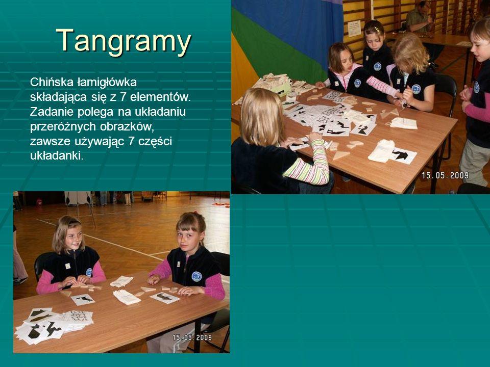 Tangramy Chińska łamigłówka składająca się z 7 elementów.