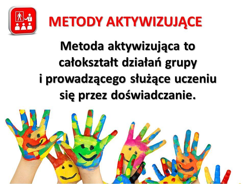 Metoda aktywizująca to całokształt działań grupy i prowadzącego służące uczeniu się przez doświadczanie.