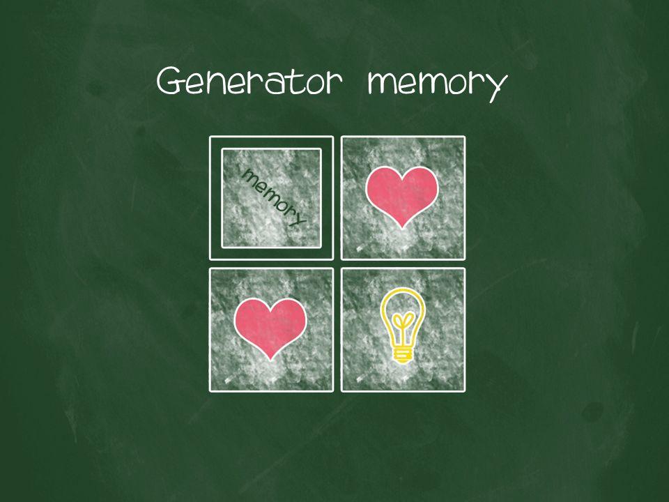 Generator memory