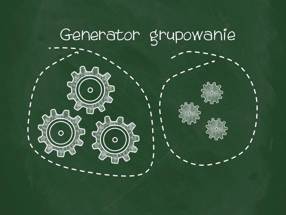 Generator grupowanie
