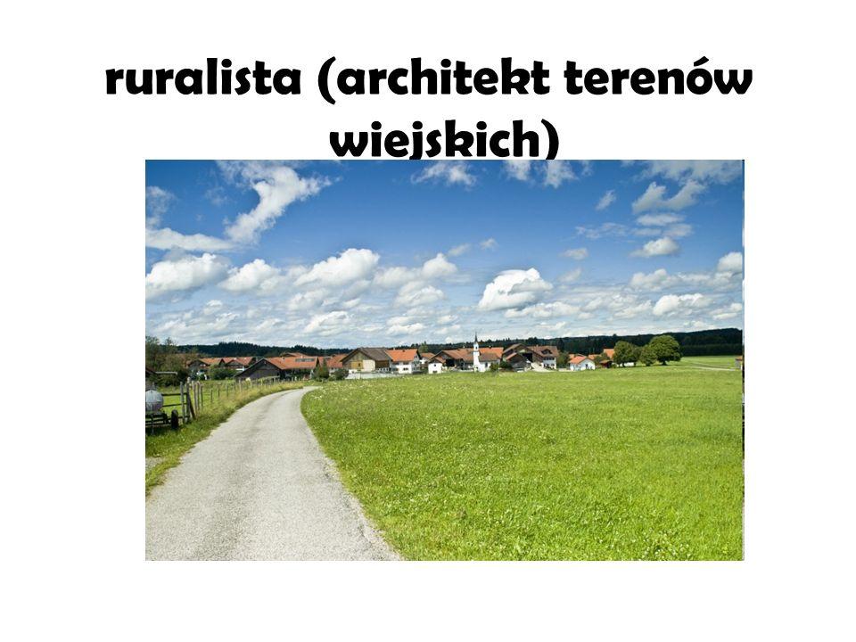 ruralista (architekt terenów wiejskich)