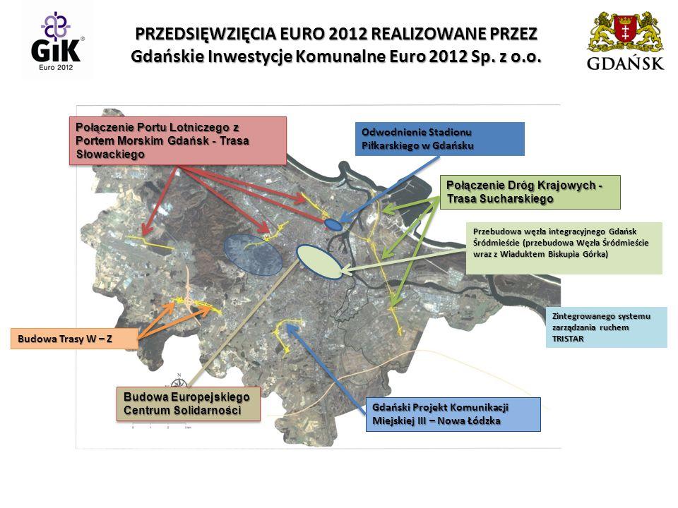 BUDOWA TRASY W-Z TERMIN VI. 2010 – V. 2012 KOSZT 149 153 000 zł