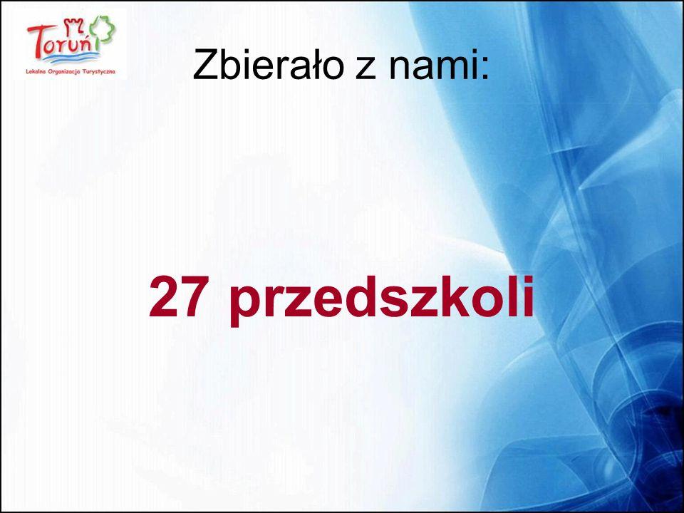 Zbierało z nami: 27 przedszkoli