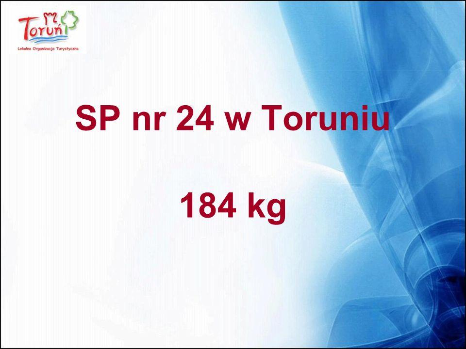 SP nr 24 w Toruniu 184 kg