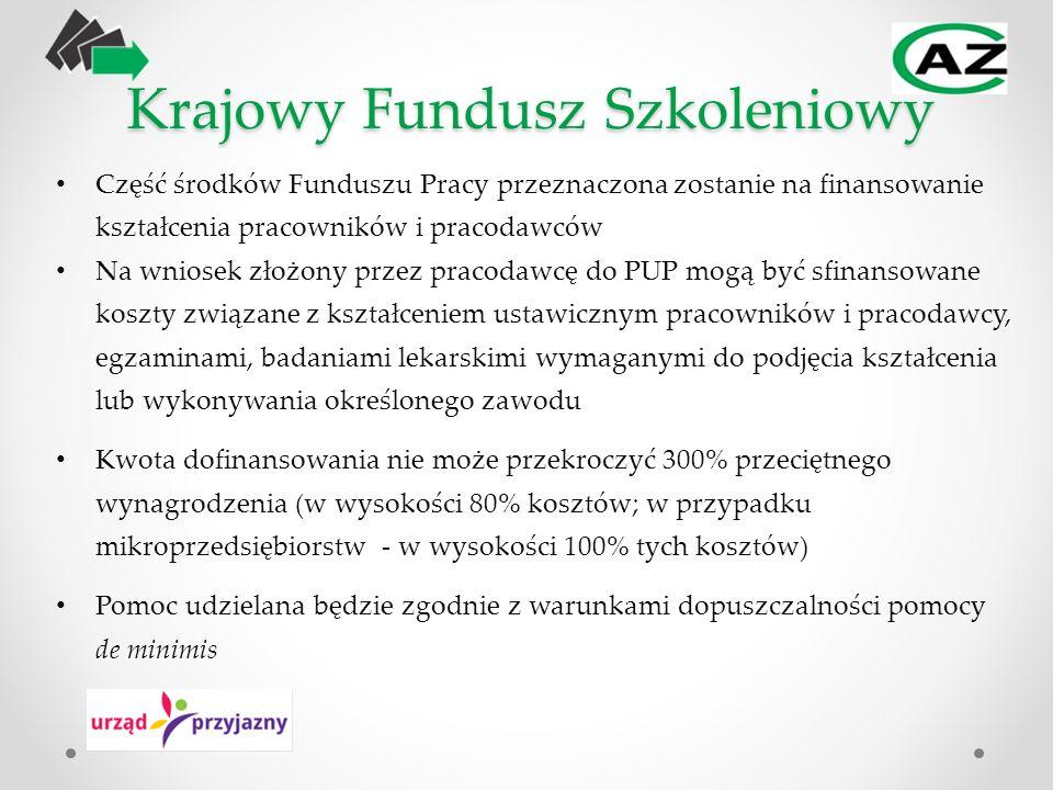 Krajowy Fundusz Szkoleniowy Część środków Funduszu Pracy przeznaczona zostanie na finansowanie kształcenia pracowników i pracodawców Na wniosek złożon