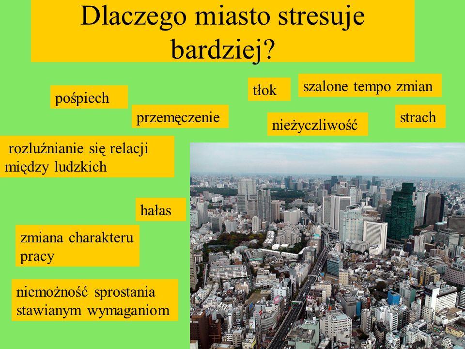 Zasada Allego Im większe miasto, im więcej mieszkańców, tym wyższy poziom stresu
