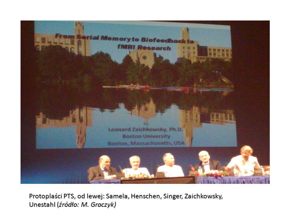 Protoplaści PTS, od lewej: Samela, Henschen, Singer, Zaichkowsky, Unestahl (źródło: M. Graczyk)