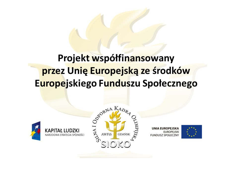 Projekt współfinansowany przez Unię Europejską ze środków Europejskiego Funduszu Społecznego