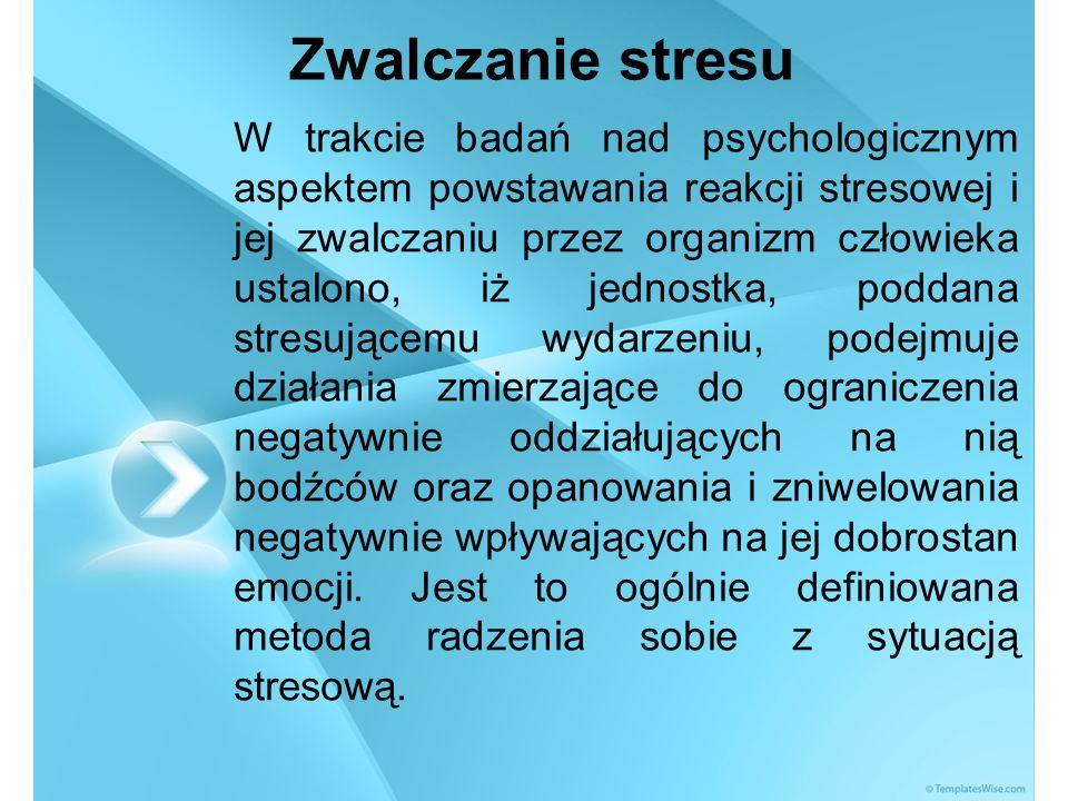 BIBLIOGRAFIA 1.Basińska B., Radzenie sobie ze stresem w warunkach różnego stopnia zagrożenia zdrowia, Przegląd psychologiczny 2004, nr 47 (1).