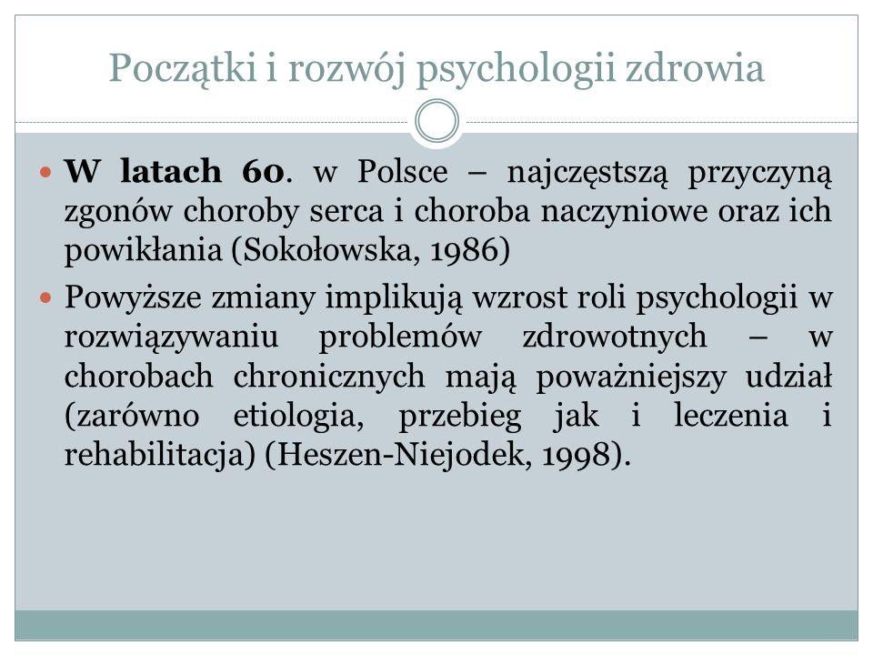 Początki i rozwój psychologii zdrowia W latach 60.
