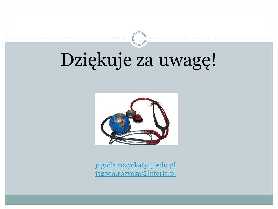 Dziękuje za uwagę! jagoda.rozycka@uj.edu.pl jagoda.rozycka@interia.pl