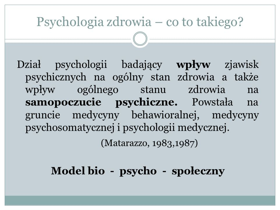 Psychologia zdrowia – co to takiego.