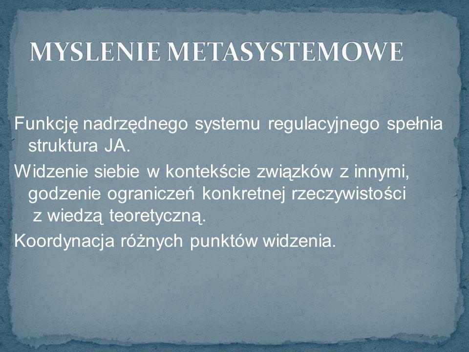 Funkcję nadrzędnego systemu regulacyjnego spełnia struktura JA.