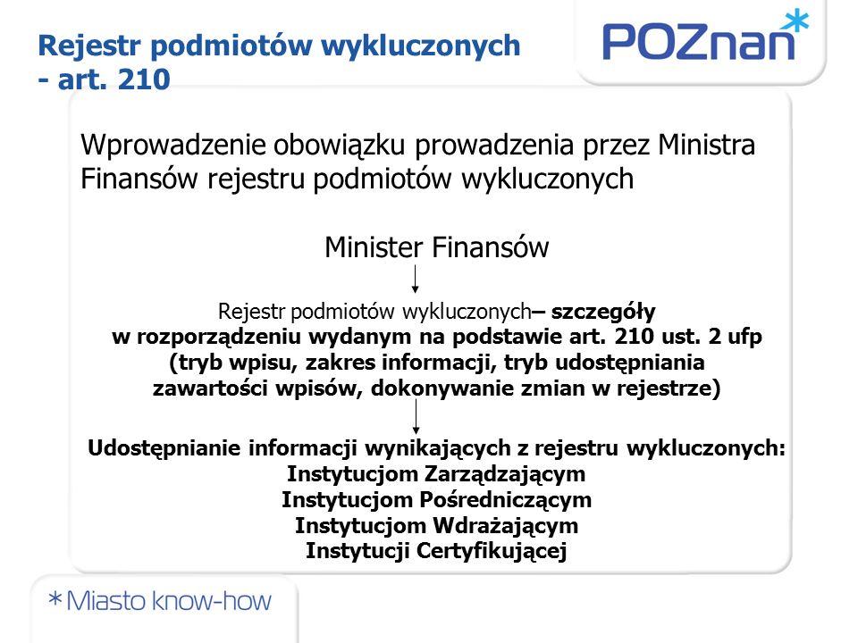 Wprowadzenie obowiązku prowadzenia przez Ministra Finansów rejestru podmiotów wykluczonych Minister Finansów Rejestr podmiotów wykluczonych– szczegóły w rozporządzeniu wydanym na podstawie art.