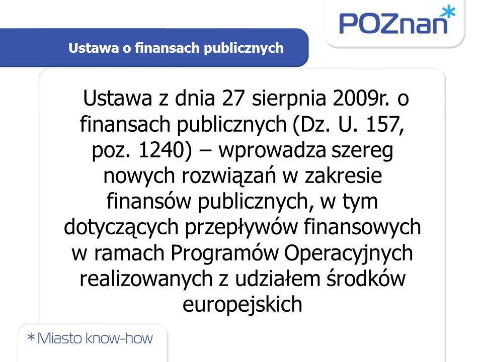 Ustawa z dnia 27 sierpnia 2009r. o finansach publicznych (Dz.