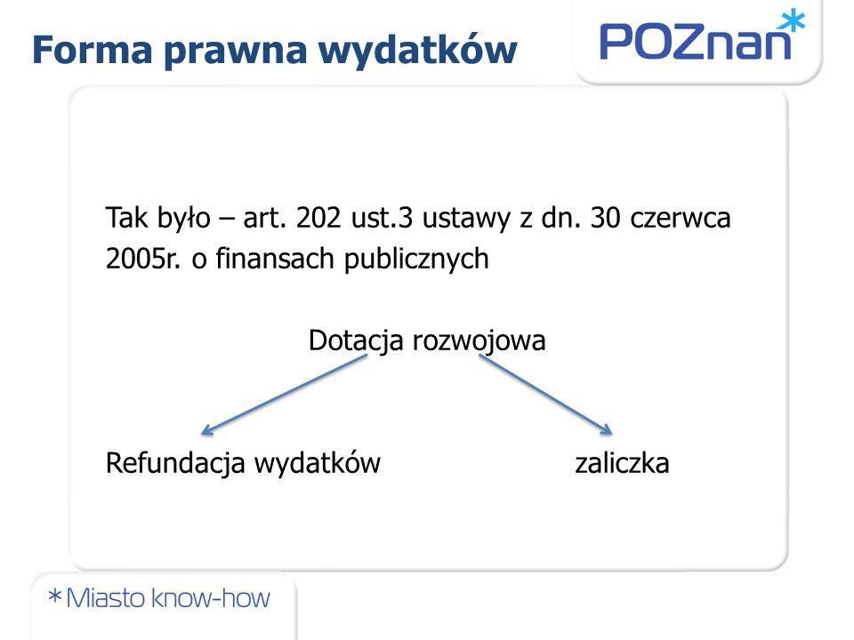 Tak było – art. 202 ust.3 ustawy z dn. 30 czerwca 2005r.