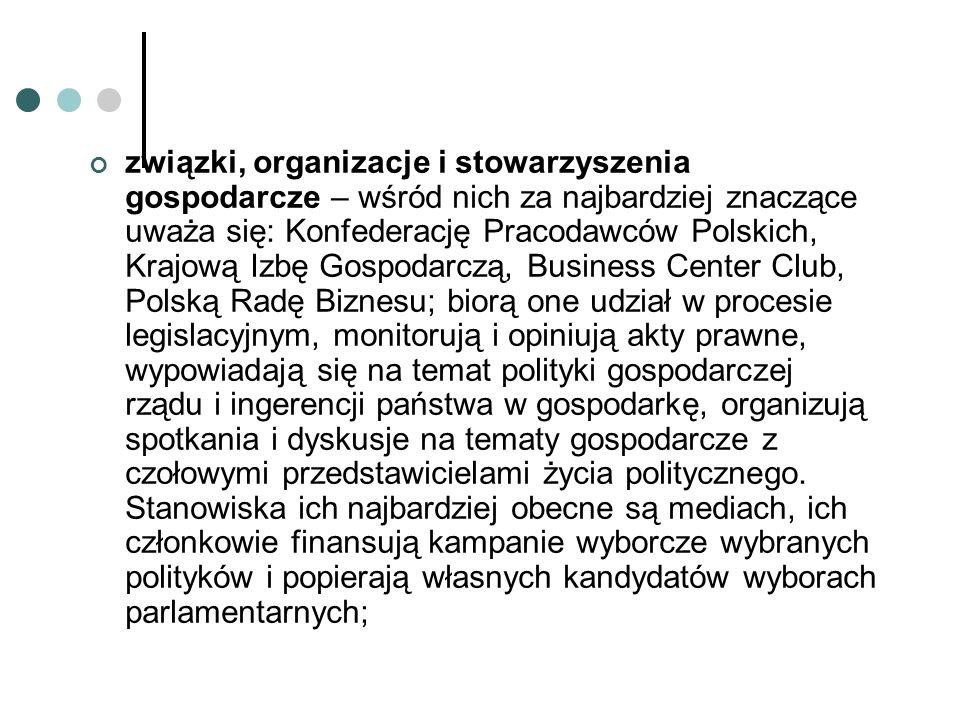 """związki zawodowe – to Niezależny Samodzielny Związek Zawodowy """"Solidarność oraz Ogólnopolskie Porozumienie Związków Zawodowych."""