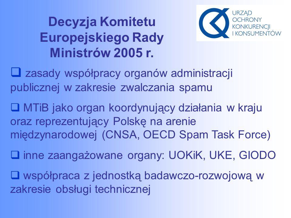 Decyzja Komitetu Europejskiego Rady Ministrów 2005 r.