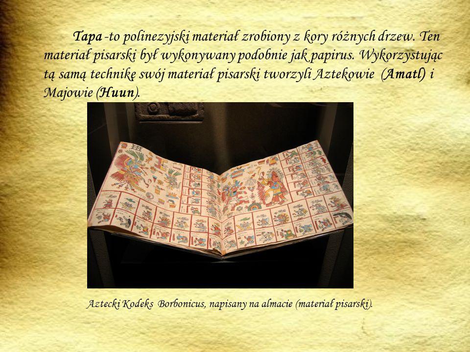 Tapa -to polinezyjski materiał zrobiony z kory różnych drzew.