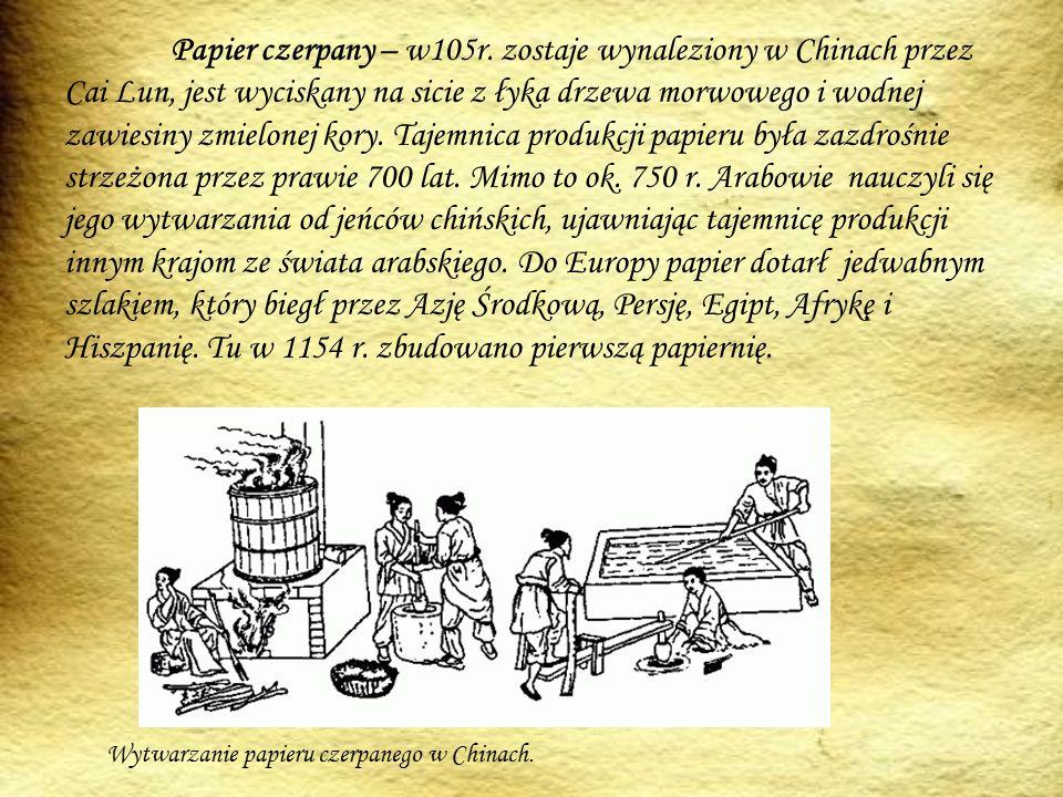 Papier czerpany – w105r.