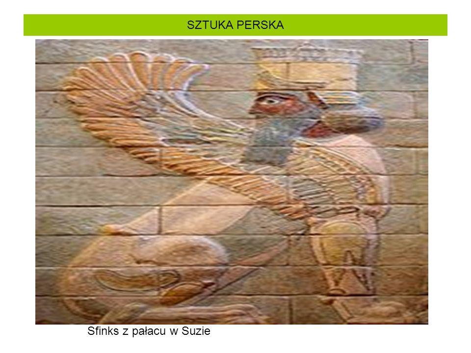 SZTUKA PERSKA Sfinks z pałacu w Suzie