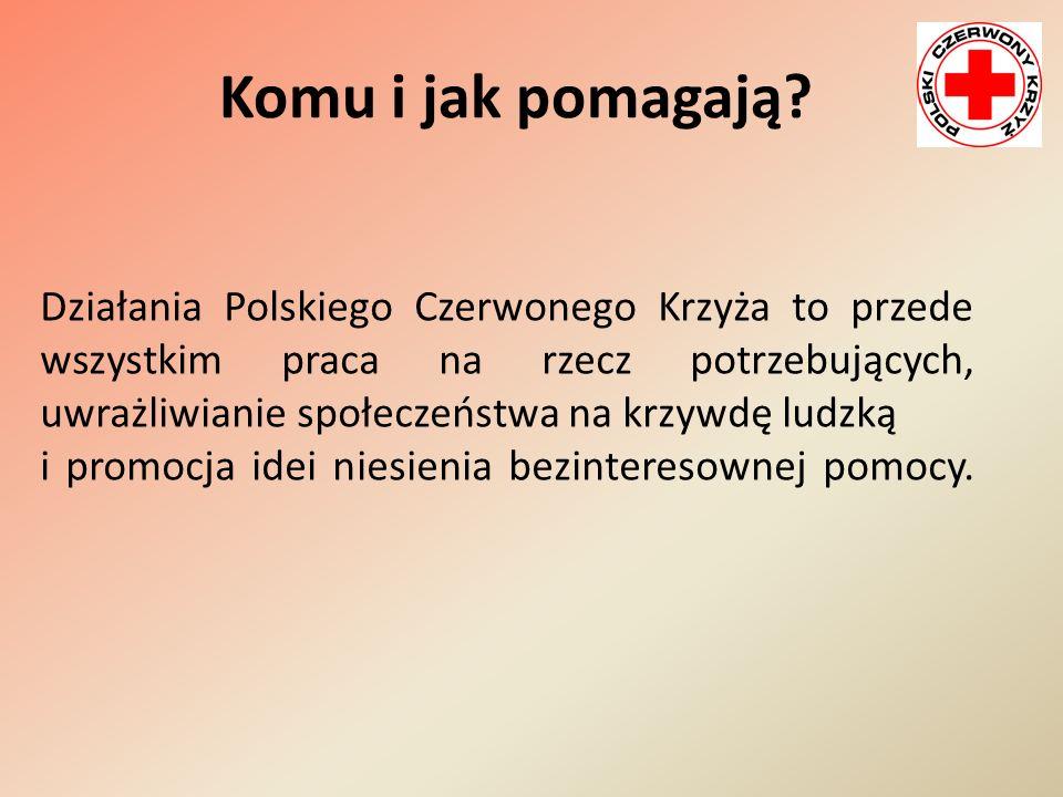 Komu i jak pomagają? Działania Polskiego Czerwonego Krzyża to przede wszystkim praca na rzecz potrzebujących, uwrażliwianie społeczeństwa na krzywdę l