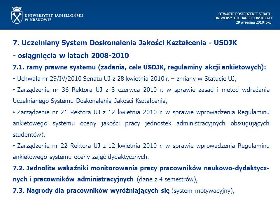 OTWARTE POSIEDZENIE SENATU UNIWERSYTETU JAGIELLOŃSKIEGO 29 września 2010 roku 7.
