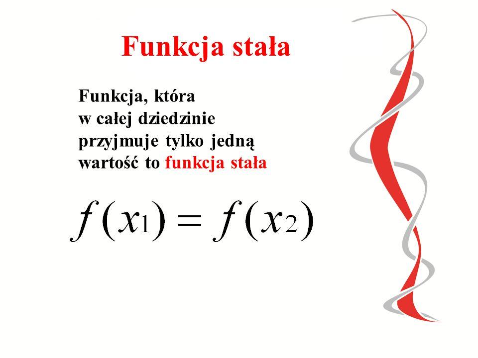 Y X Argumenty-rosną Wartości- maleją 1 234 f(-2)= 2 f(-1)= 1 f(0)= 0 f(1)= -1 -2 -3 1 2 Jest to funkcja malejąca