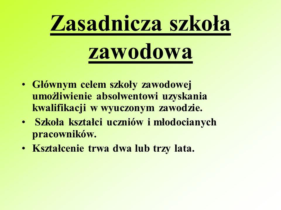 Bliższe informacje znajdziesz w informatorze o szkołach ponadgimnazjalnych miasta Poznania i powiatu poznańskiego TECHNOLOGII ŻYWNOŚCI ŻYWIENIA I GOSPODARSTWA DOMOWEGO KUCHARZA KELNERA HOTELARSTWA USŁUG GASTRONOMICZNYCH TECHNOLOGII ODZIEŻY ANALITYKA