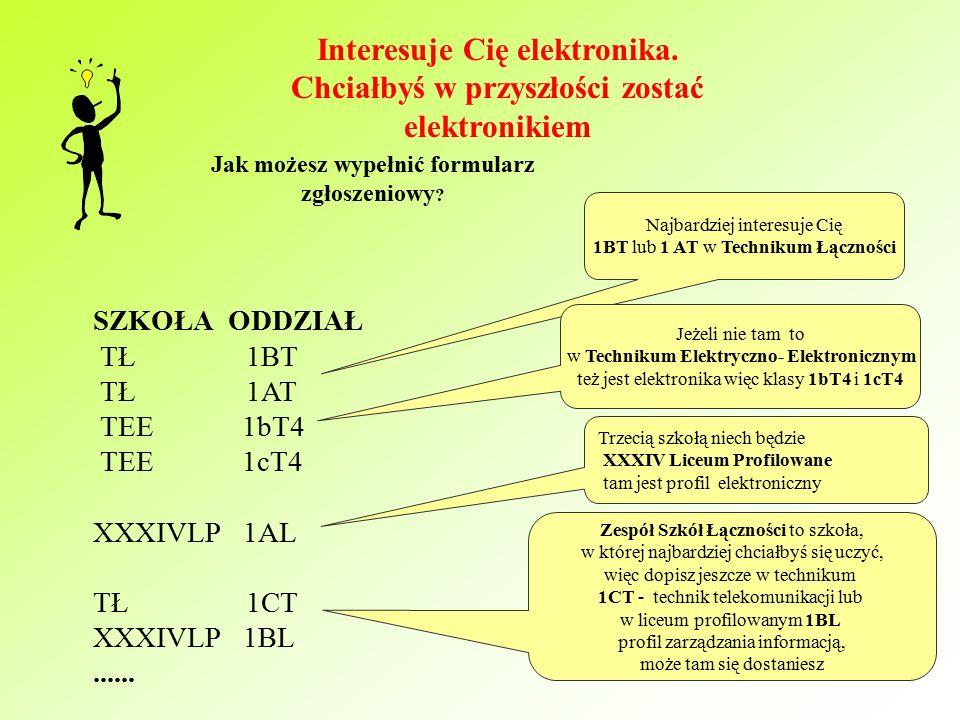 Przykładowo!!. Chciałbyś się uczyć w klasie o profilu biol-chem z językiem angielskim i niemieckim.