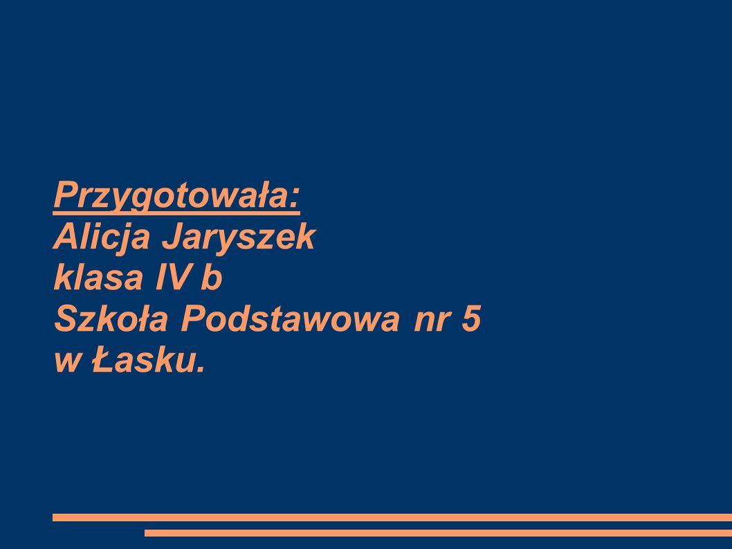 Przygotowała: Alicja Jaryszek klasa IV b Szkoła Podstawowa nr 5 w Łasku.