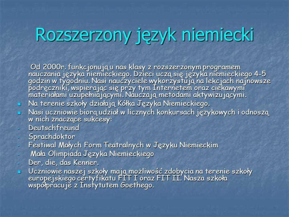 Rozszerzony język niemiecki Od 2000r.