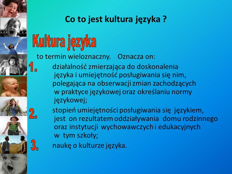 Kultura języka jest częścią składową kultury człowieka.