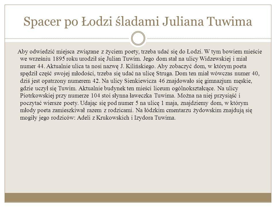 Julian Tuwim dzieciom Wiersze dla dzieci to ta część twórczości Juliana Tuwima, którą wszyscy znamy i z którą najbardziej kojarzy nam się ów poeta.