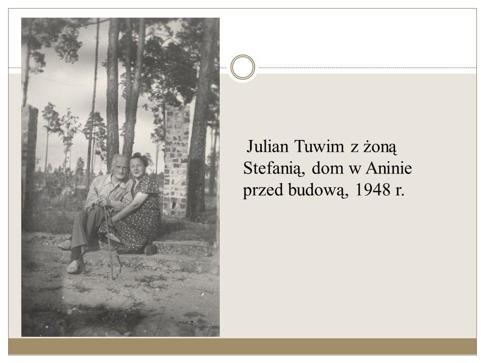 Julian Tuwim z żoną Stefanią, mieszkanie na Wiejskiej 14.