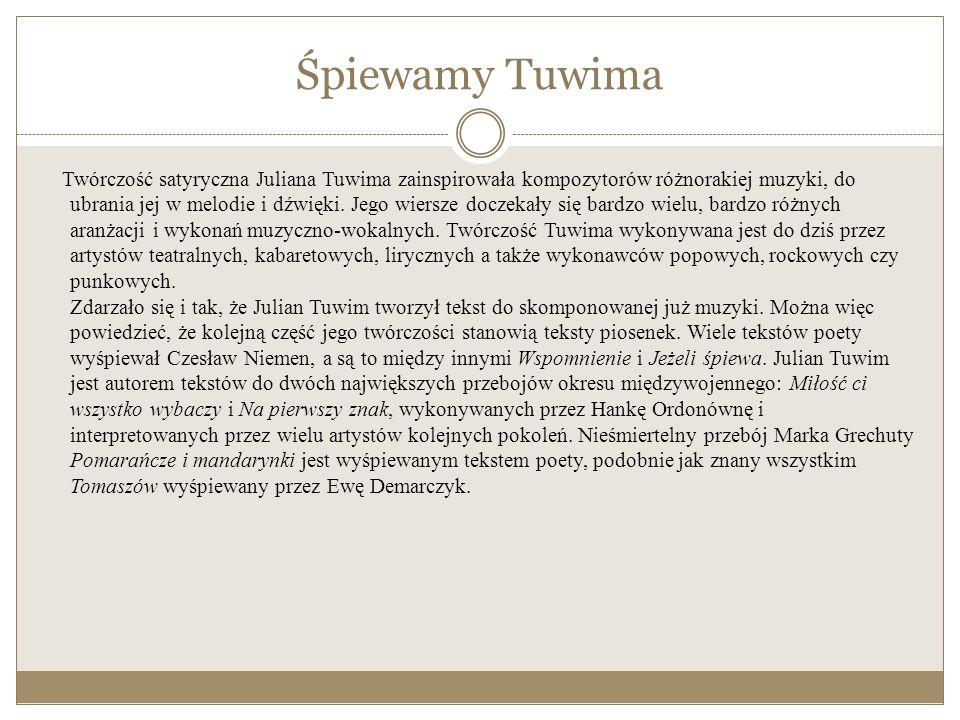 Bibliografia http://juliantuwim.pl http://www.tuwim.org