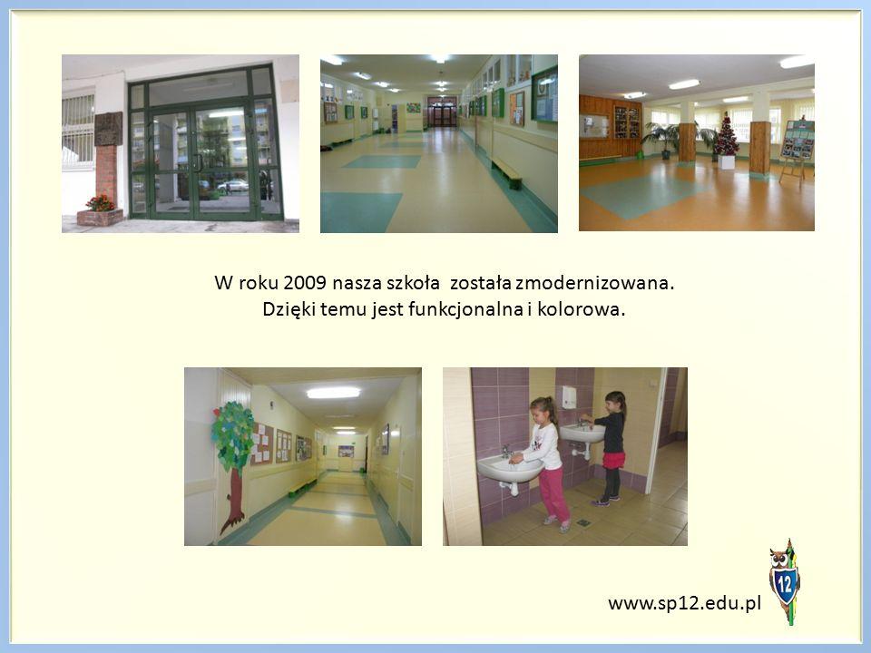 W roku 2009 nasza szkoła została zmodernizowana. Dzięki temu jest funkcjonalna i kolorowa. www.sp12.edu.pl