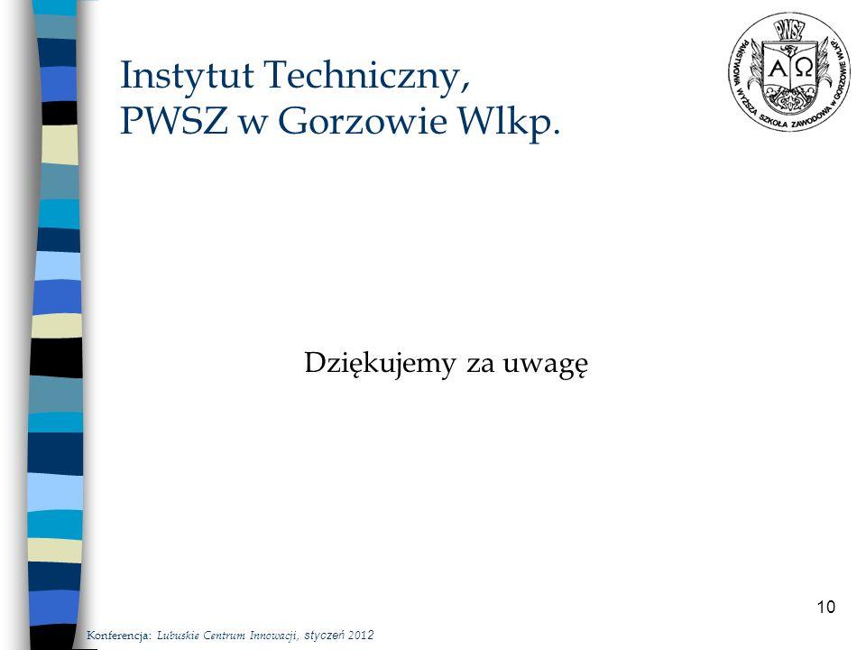 10 Instytut Techniczny, PWSZ w Gorzowie Wlkp.