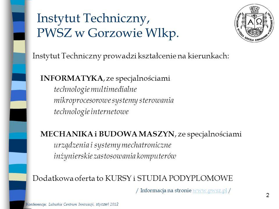2 Instytut Techniczny, PWSZ w Gorzowie Wlkp.