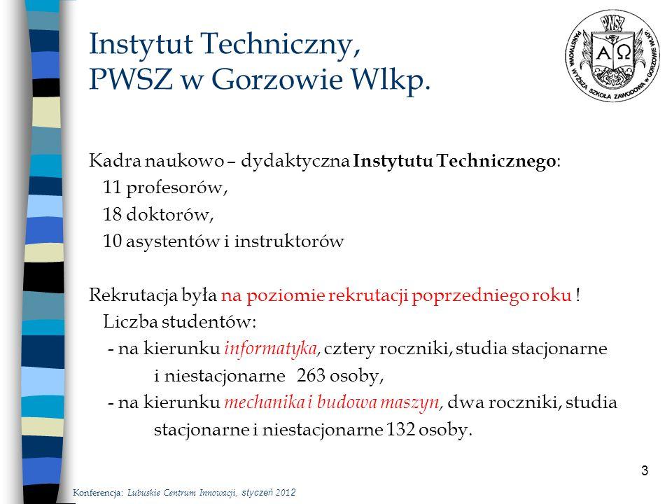 3 Instytut Techniczny, PWSZ w Gorzowie Wlkp.