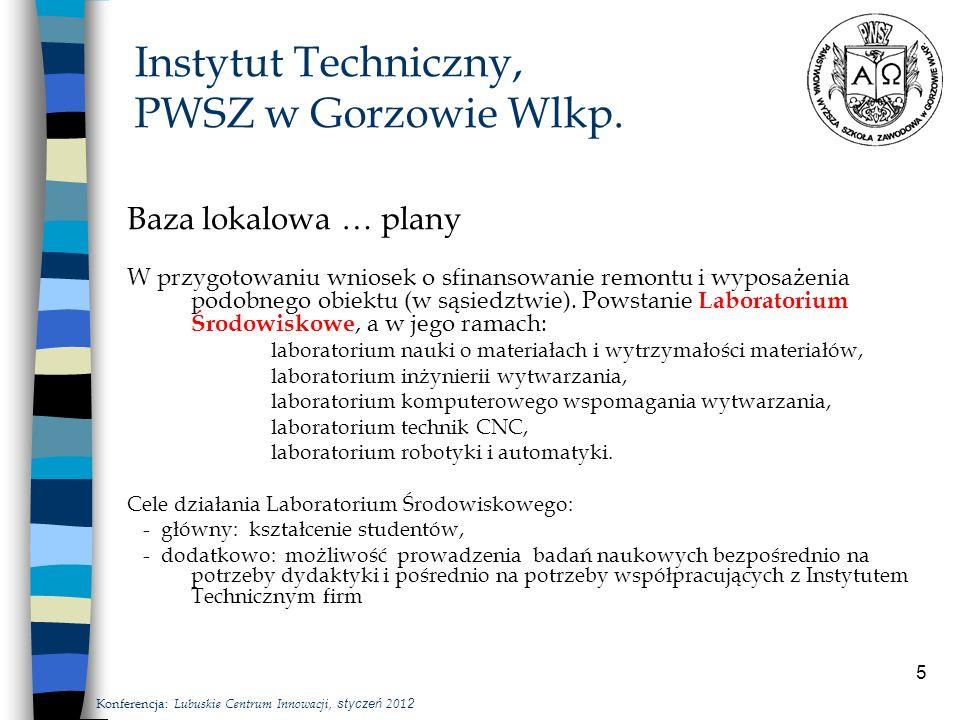 5 Instytut Techniczny, PWSZ w Gorzowie Wlkp.